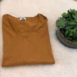 Mustard Long-Sleeve V Neck